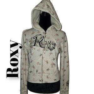 Roxy   floral sweater hoodie   sz M